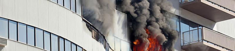 Exterior building fire