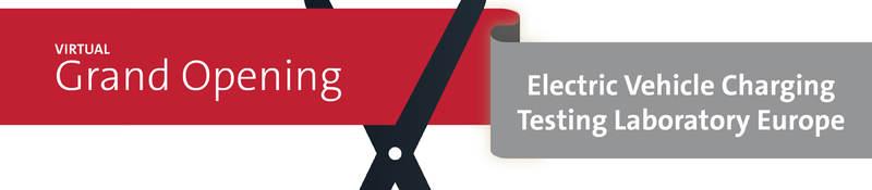 cut the ribbon ev lab opening