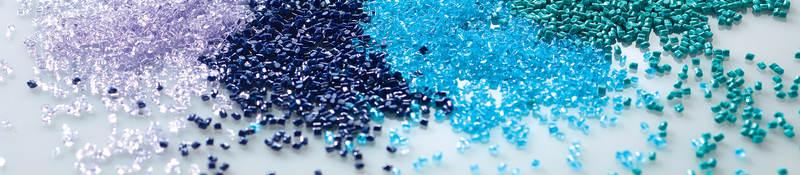 Colorful plastic pellets