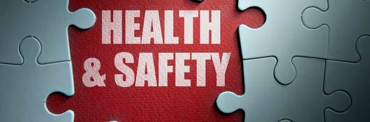 Missing pieces from a jigsaw puzzle revealing health and safety