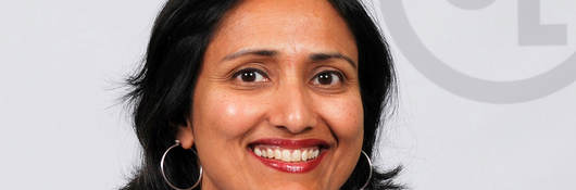 Deepa Shankar in front of UL logo