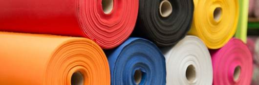 image of colorful material fabric rolls - texture samples