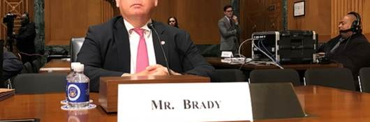 Terry Brady testifies before Senate Finance Committee