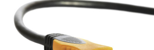 A close-up image of an HDMI cord.