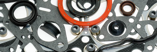 A variety of gaskets and seals.