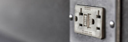 GFCI electrical wall outlet