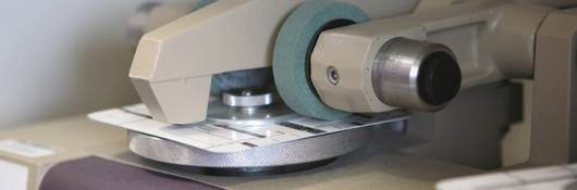 Abrasion testing on a label