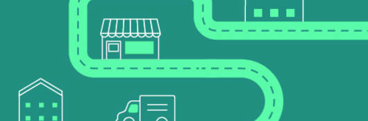 Infographic path transparency teal