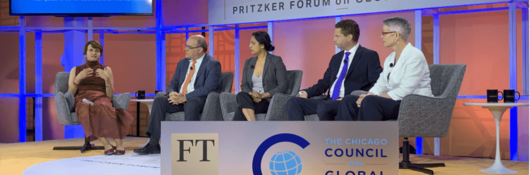 Catherine Sheehy, head of Advisory Solutions, discuss sustainability at the 2019 Pritzker Forum on Global Cities