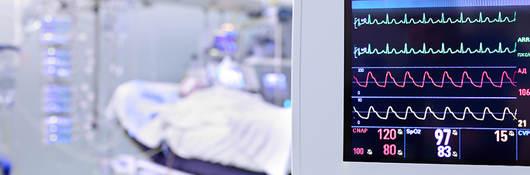 Image of medical monitor