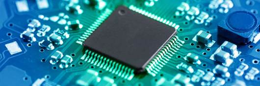 Close-up of an electronic circuit board