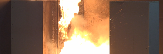full scale fire test of a battery - UL 9540A