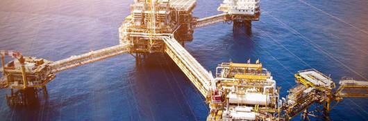 Ariel oil rig