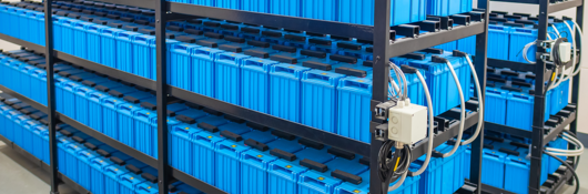 Racks of Uninterruptible Power Supply (UPS) Systems