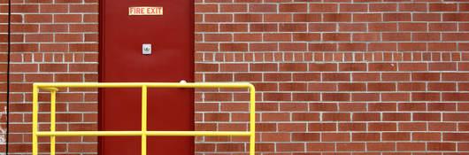 photo of a fire door