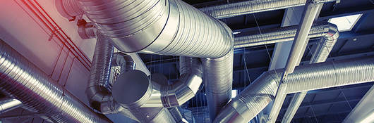 System of industrial venting pipes
