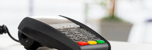 chip-enabled credit card in a card payment reader terminal
