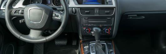 photo of an automobile interior