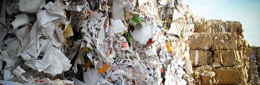 Photo of paper waste