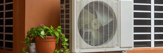Window unit air conditioners.