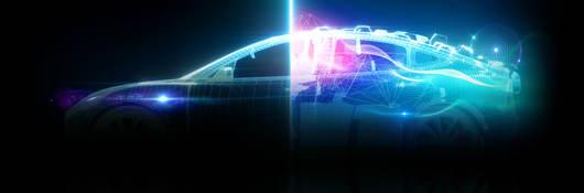 Futuristic car with autonomous features