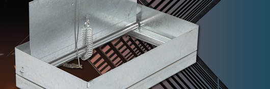 Dynamic ceiling damper by Metal-Fab Inc.