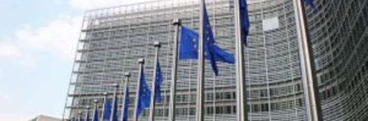 Flags outside the European Commission