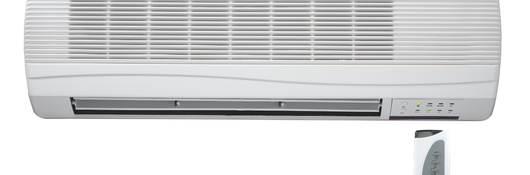 Household split AC unit.