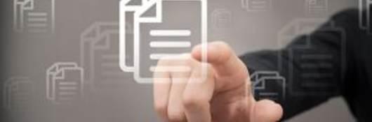 hand pointing at digital file symbol