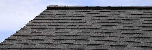 Photo of a shingled roof