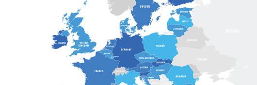 Map of EU countries