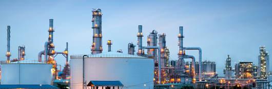 Oil refinery plant scene