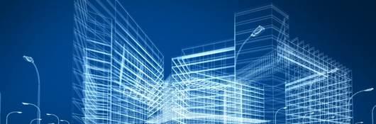 Architecture blueprint of mid-rise building