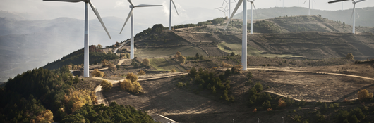 Wind Turbines near substation