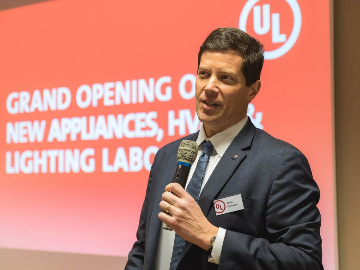 Todd Dennison, VP and General Manager for UL's Appliances, HVAC and Lighting business, at the official lab opening