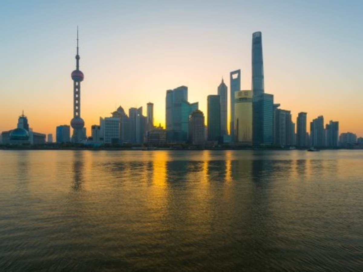 Shanghai Lujiazui Financial District Sunrise