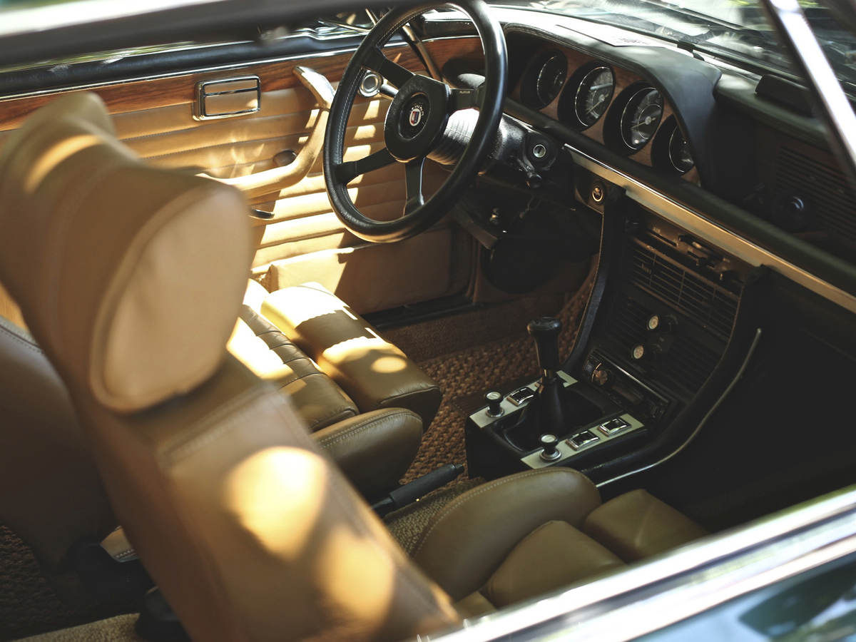 The inside of a luxury vehicle.
