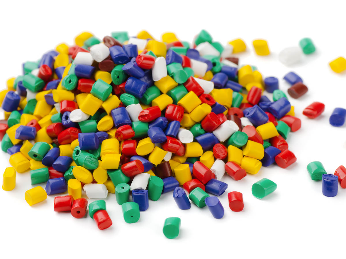 colored pellet mound