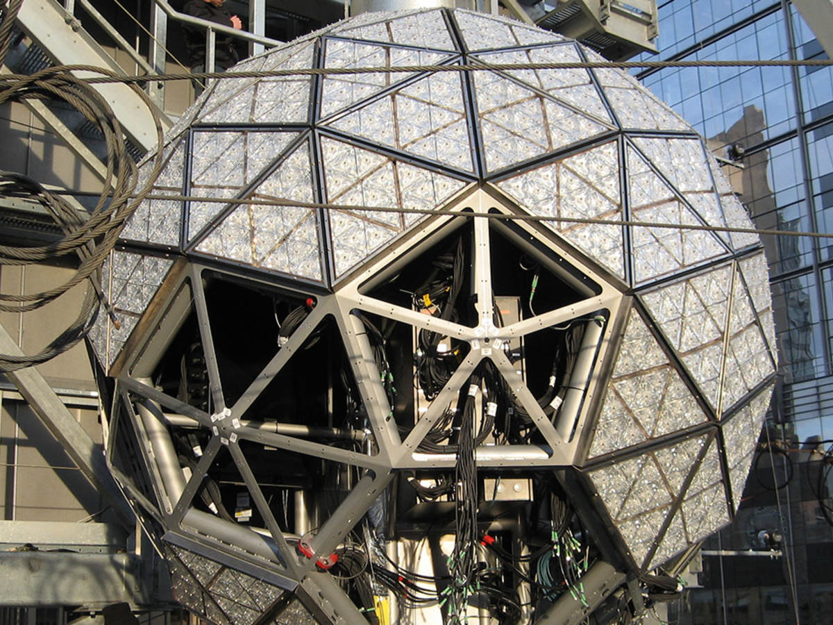 Times Square Ball being constructed