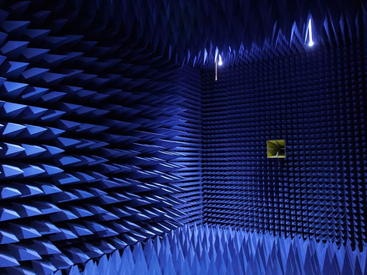 A wireless testing room.