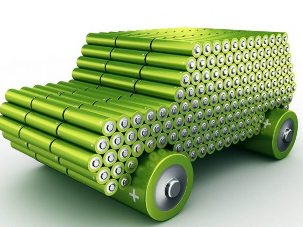 electric vehicle batteries model made using batteries