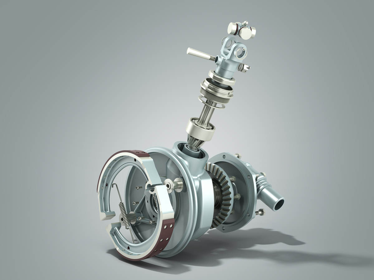 Truck wheel drive and braking system