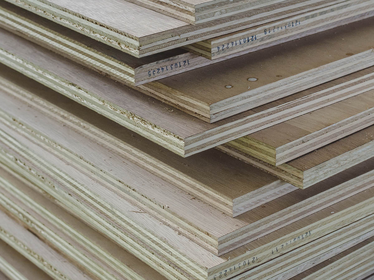 Stacked plywood