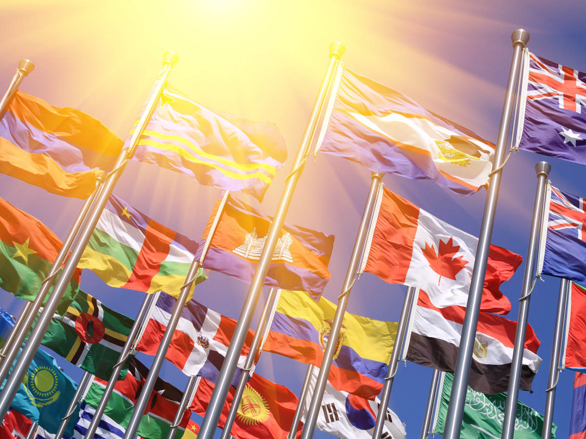 Flags representing global product compliance