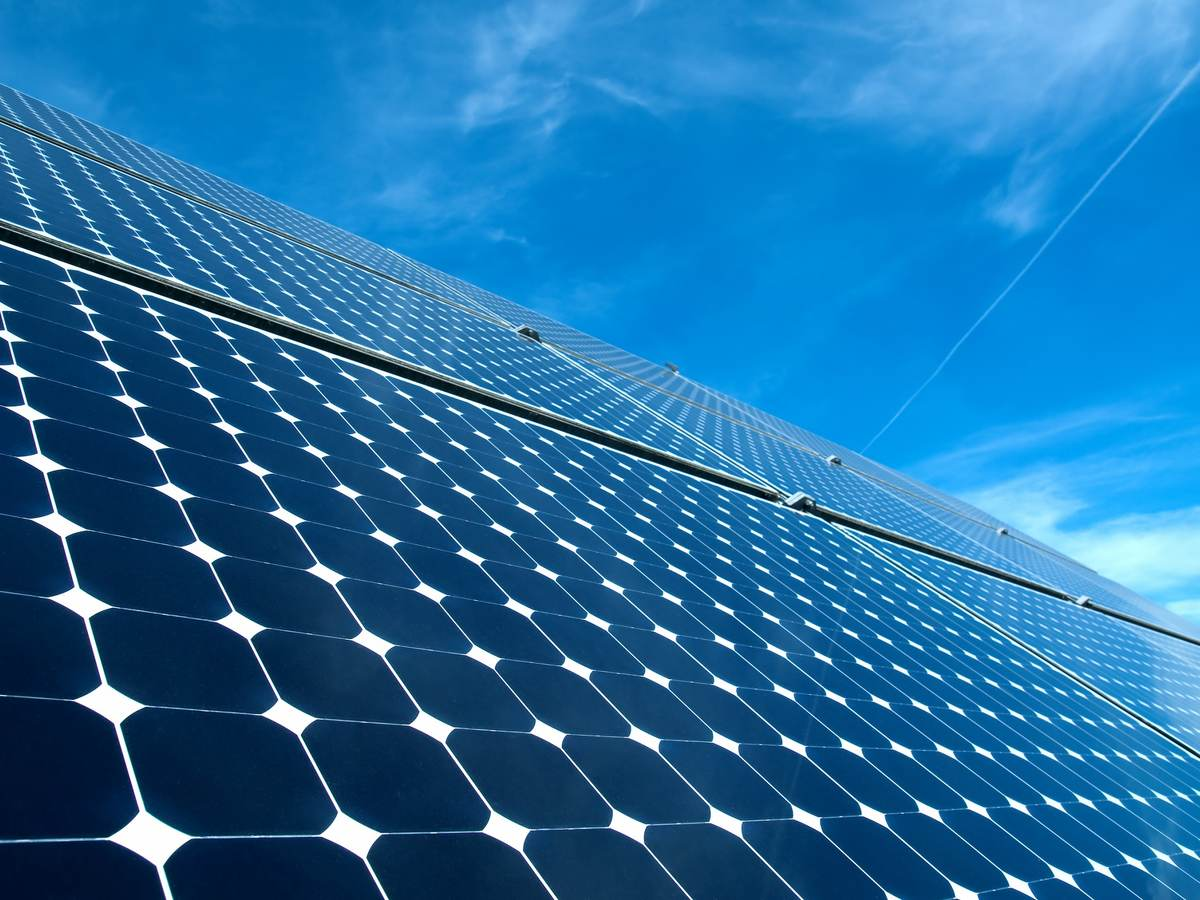 Image of a really large solar panel for our solar power infographic