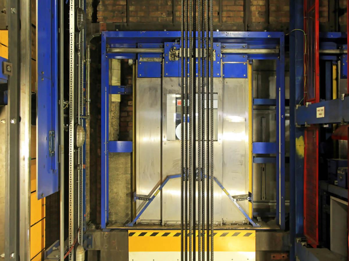 An elevator shaft