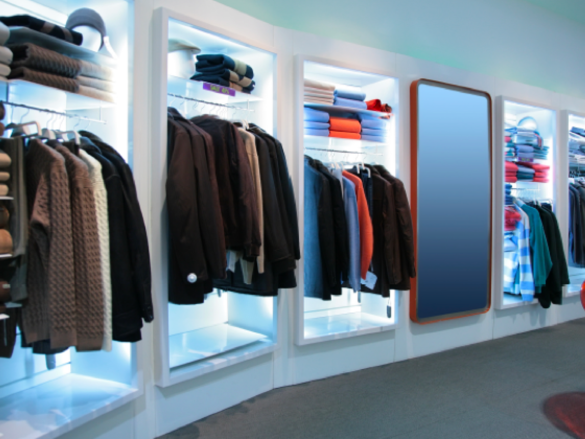 In store clothing display