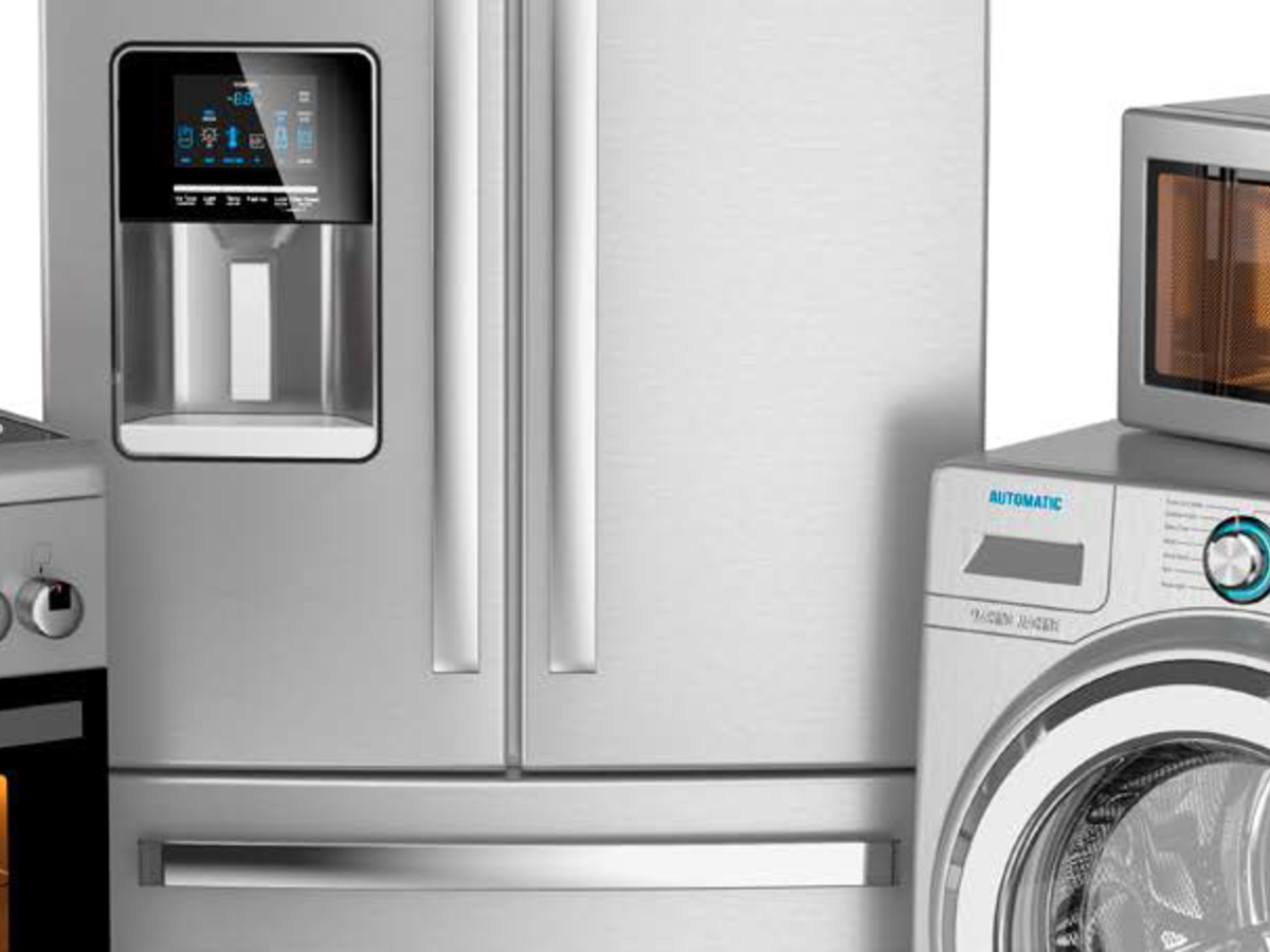 Household appliances - stove, refrigerator, microwave, washing machine