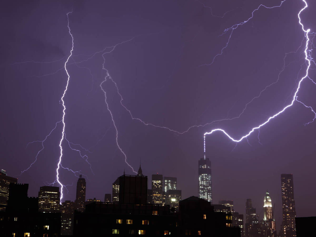 Lightning over the World Trade Center