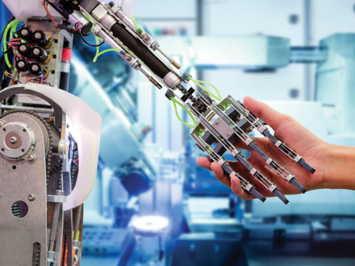 Artificial intelligence handshake with humans in industrial environment